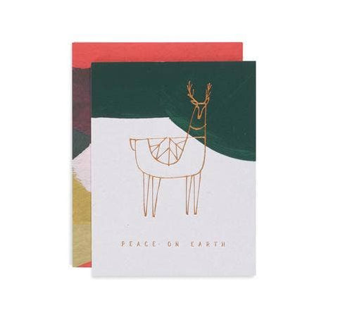 Reindeer Peace Holiday Card