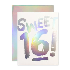 Sweet 16 Holla- Gram Birthday Card