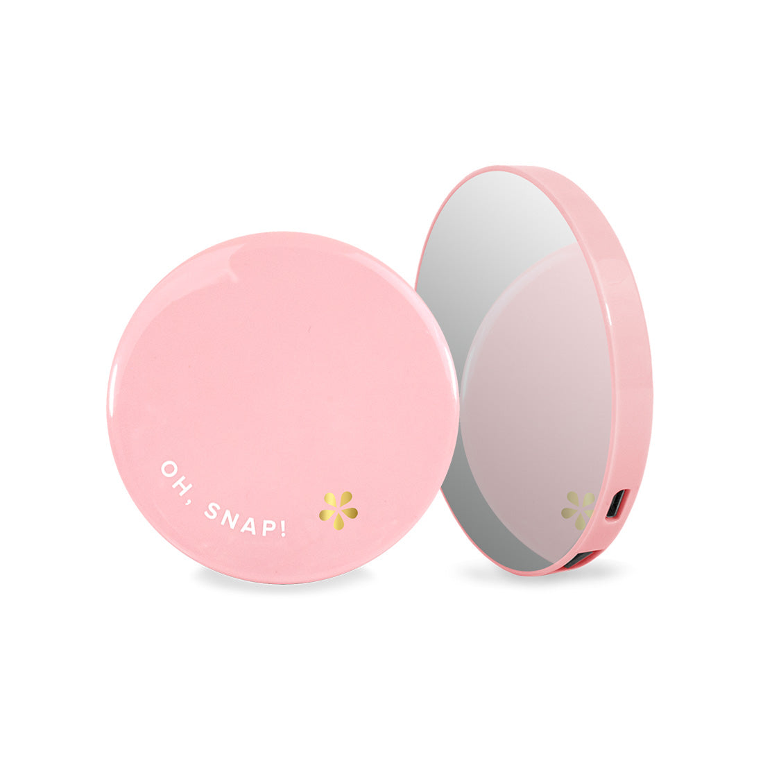 Pink Silver Mirror Powerbank