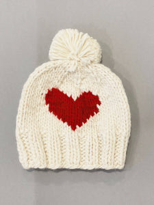 The Blueberry Hill - Heart Knit Hat