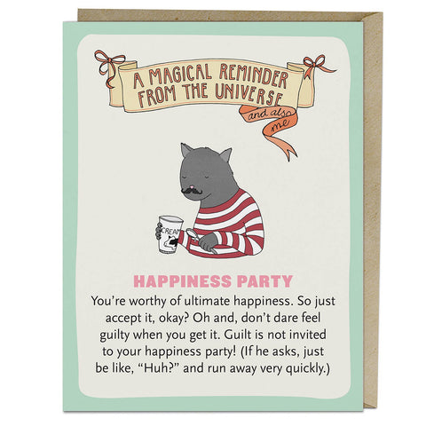 Happiness Party Affirmators! Greeting Card