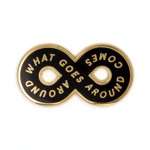 Karma Loop Enamel Pin