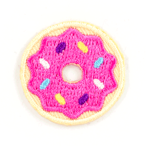 Donut Embroidered Sticker Patch