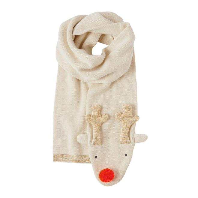 Knitted Reindeer Scarf