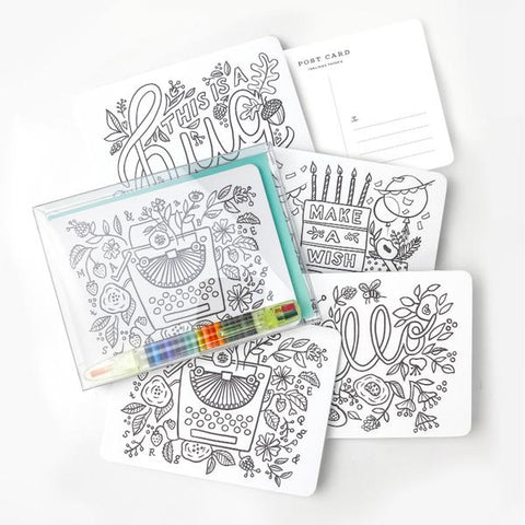Color In Postcard Kit