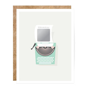 Vintage Typewriter Scratch Off Card