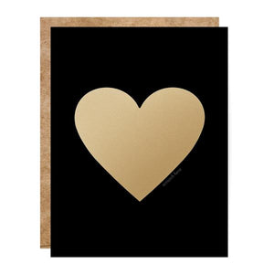 Black and Gold Heart Scratch Off Card