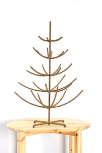 Beaded Tree Small Gold 18""