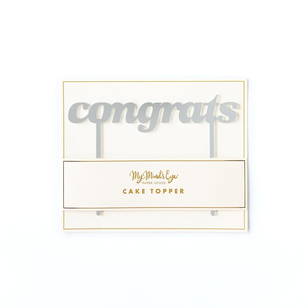 Congrats Cake Topper Holographic
