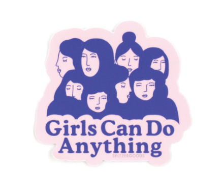 Girls Can Sticker