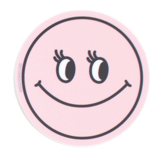 Smiley Pink Sticker