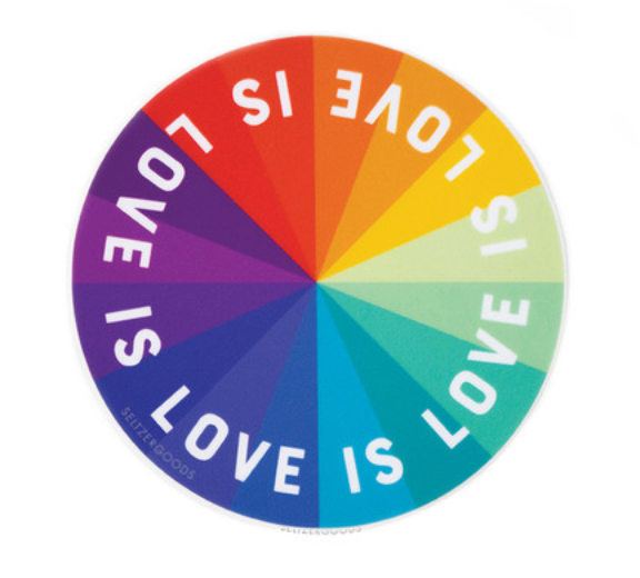 Love Color Wheel Sticker