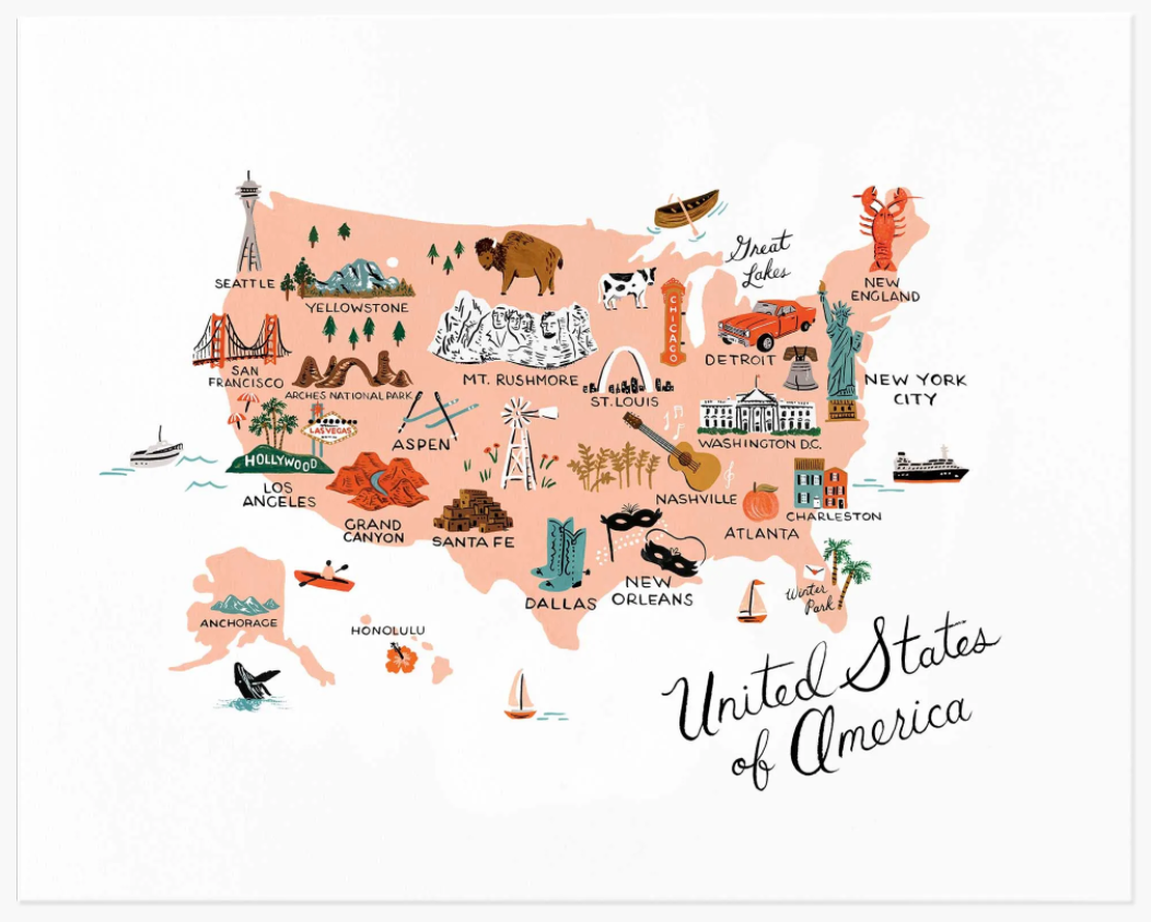 United States of America Art Print (11x14)