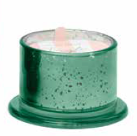 Green Mercury Glass Candle