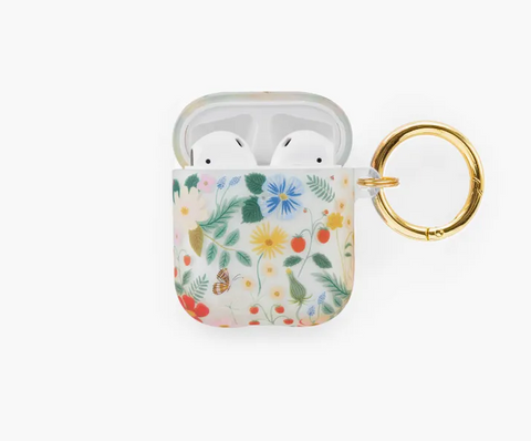 Clear Wildflowers Airpod Case