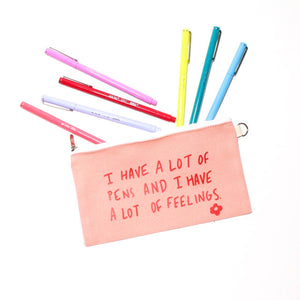 Twenty Seven - I Have A Lot of Pens and A Lot of Feelings Pencil Pouch