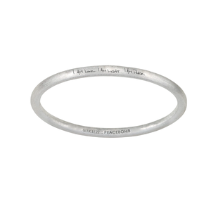 "Peacebomb Jewelry - ""I am love, I am light, I am peace"" Bangle"