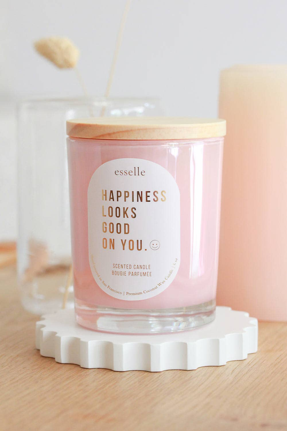 'Happiness' Coconut Wax Candle (Copy
