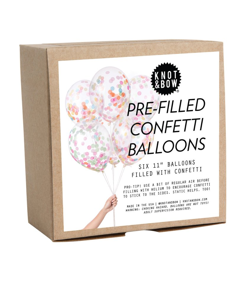 Multicolor Pre-Filled Confetti Balloons