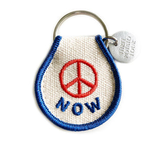 Peace Now Patch Keychain
