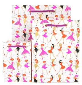 Dancing Girl Medium Gift Bag