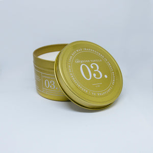 Hamilton Wax Co. - 03 Lavender Vanilla Scented Candle - Gold Tin