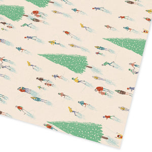 Ohh Deer - Christmas Ice Skating Gift Wrap