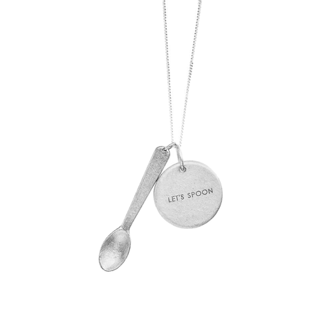 Peacebomb Jewelry - Lets Spoon Jewelgram Necklace