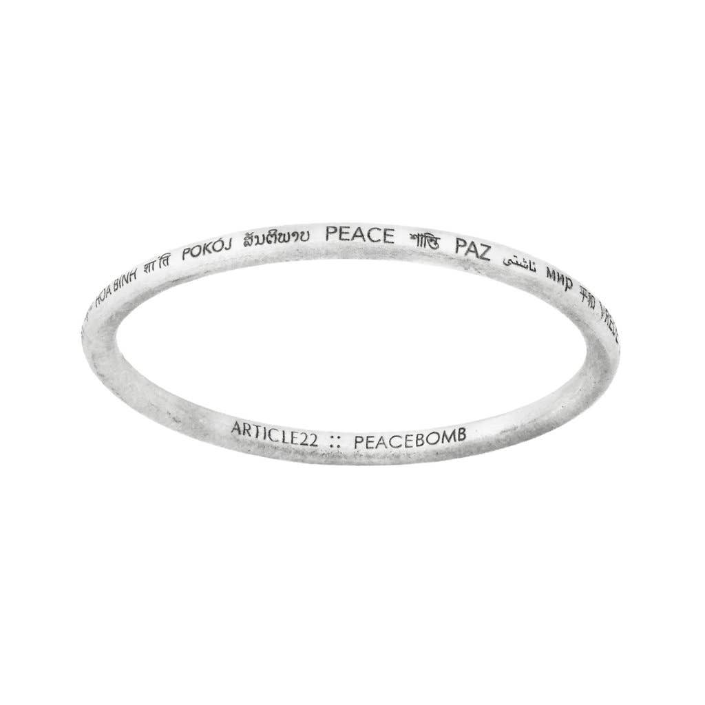 Peacebomb Jewelry - Peace All Around Bangle