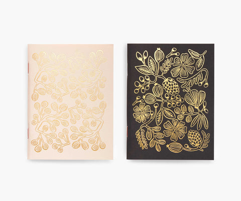 Pair of 2 Gold Foil Pocket Notebooks