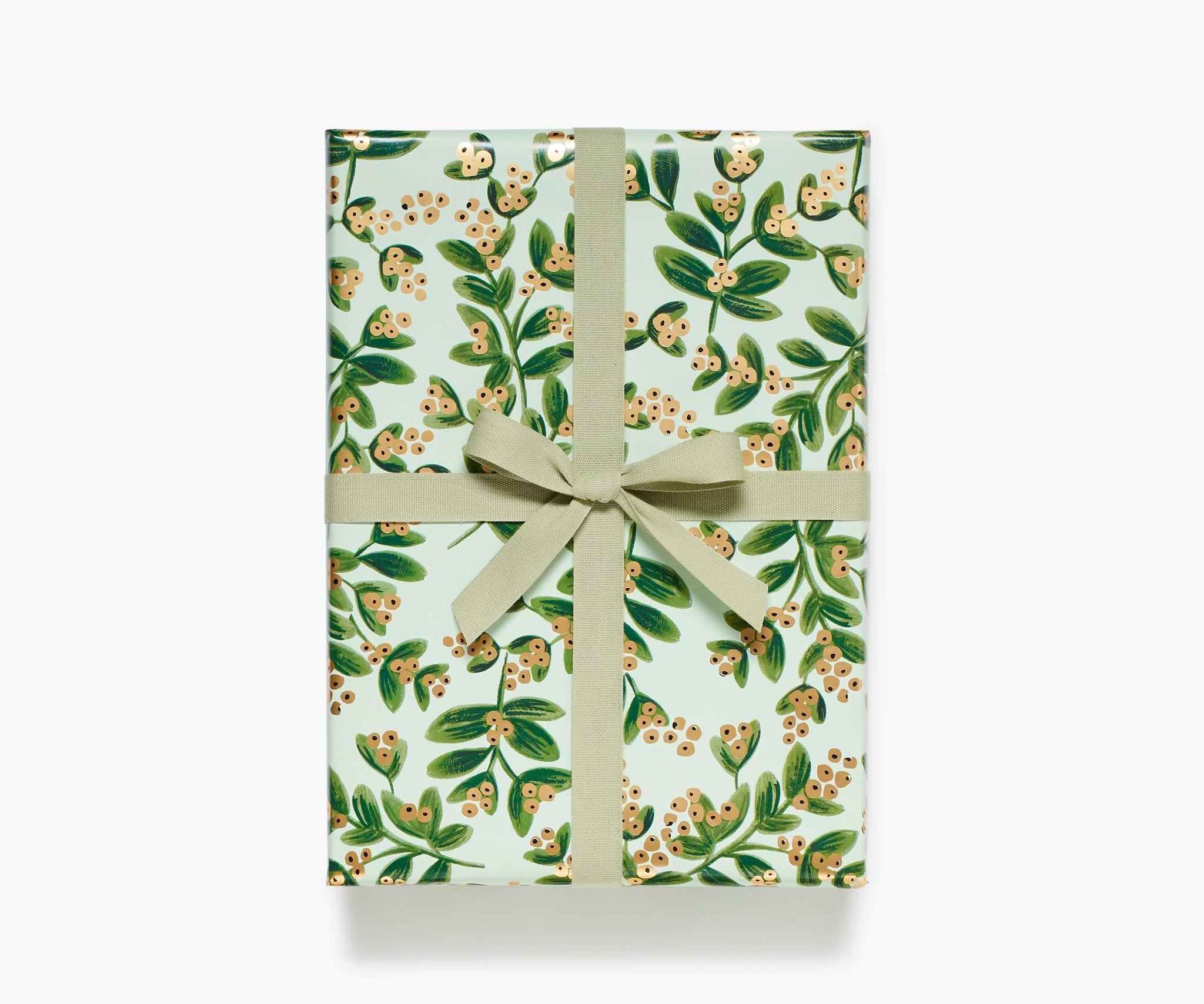 Mistletoe Gold Wrapping Roll