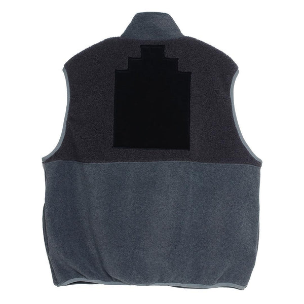 Cav Empt - Fleece Zip Vest - Black/Grey