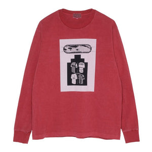 Cav Empt - Uniform Choice LS Tee - Red Overdye