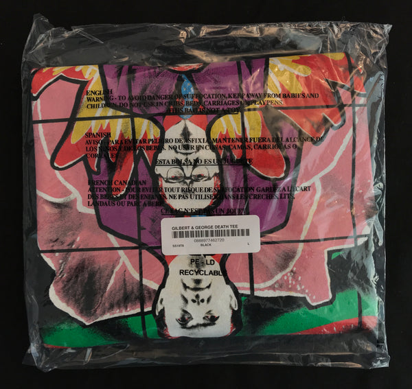 Supreme x Gilbert & George - Death Tee - Black
