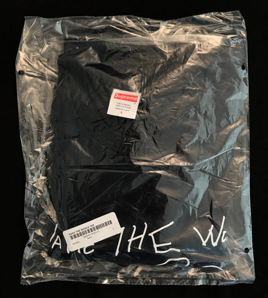 Supreme x Buju Banton - Wake The World Tee - Navy