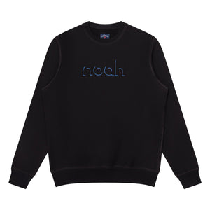 NOAH - Outline Crewneck - Black