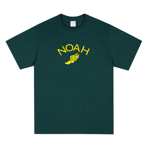 NOAH - Winged Foot Logo Tee - Dark Green