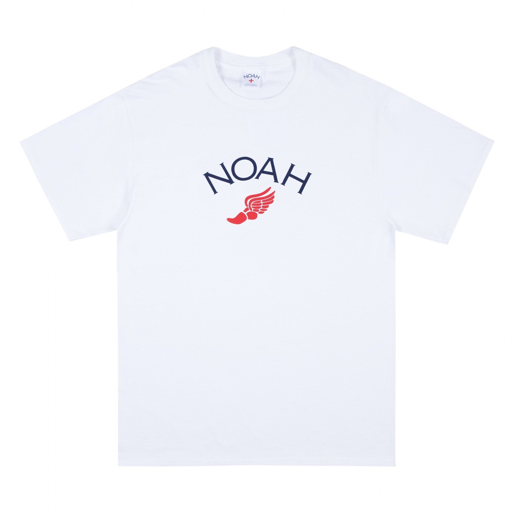 NOAH - Winged Foot Logo Tee - White