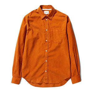 Norse Projects - Osvald Corduroy Shirt - Cadmium Orange
