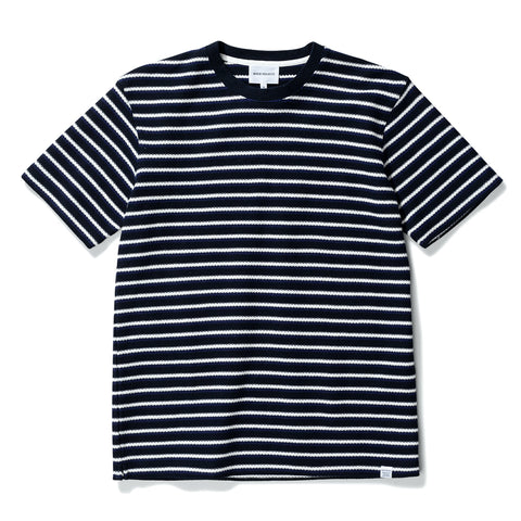 Norse Projects - Johannes Jacquard Tee - Navy