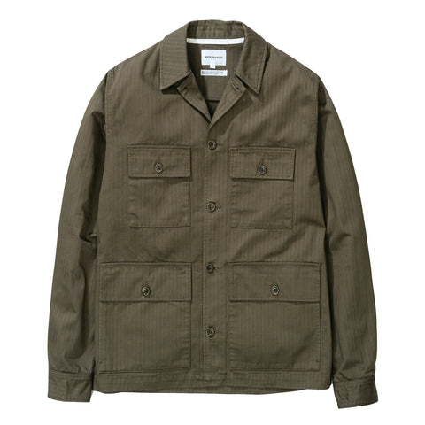 Norse Projects - Mads HBT Cotton Jacket - Ivy Green