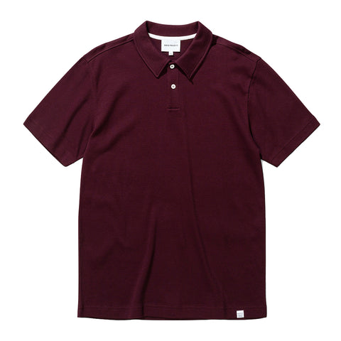 Norse Projects - Ruben Textured Polo Shirt - Mulberry Red