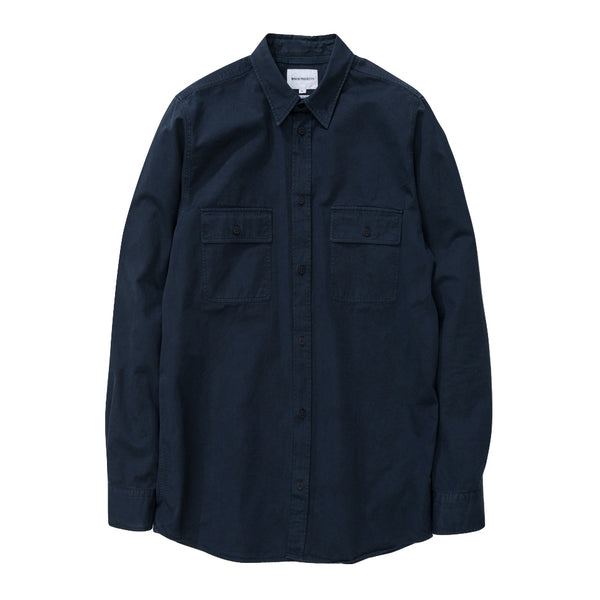 Norse Projects - Villads Light Twill Shirt - Dark Navy