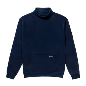 NOAH - St. Michael Turtleneck Sweatshirt - Navy