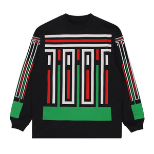 The Trilogy Tapes - Stripes LS Tee - Black