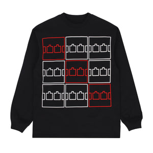 The Trilogy Tapes - Multi Logo LS Tee - Black