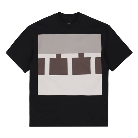 The Trilogy Tapes - Block Logo Tee - Black