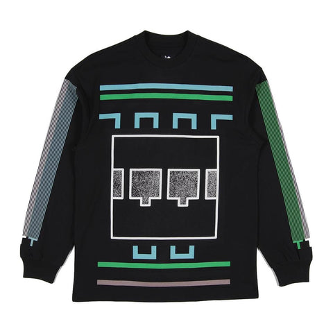 The Trilogy Tapes - Block Noise LS Tee - Black