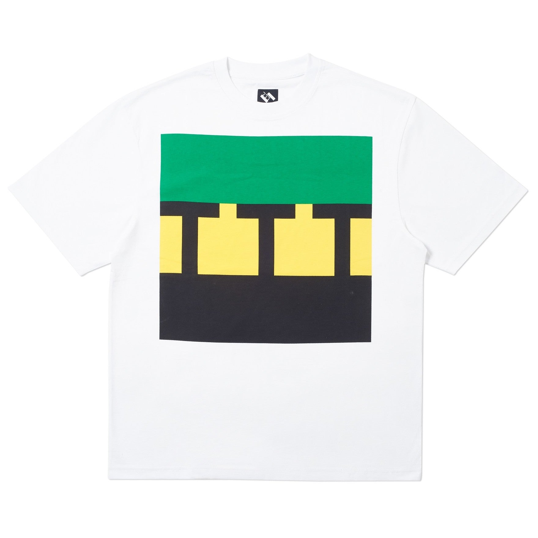 The Trilogy Tapes - Block Logo Tee - White