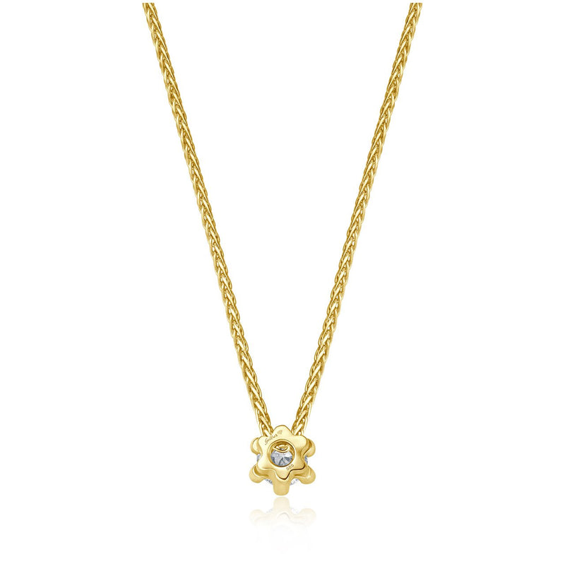 Solitaire Necklace - Gelbgold mit 0,15 ct Brillant Lupenrein